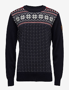 Garmisch Masc Sweater - NAVY/OFF WHITE/RASPBERRY
