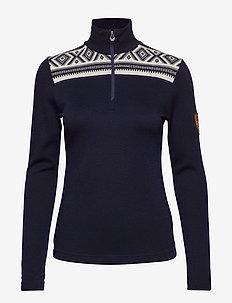 Cortina basic feminine sweater - NAVY/OFF WHITE