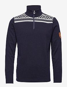 Cortina basic masculine sweater - NAVY/OFF WHITE