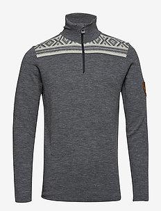 Cortina basic masculine sweater - SMOKE/BLACK