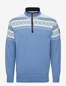 Cortina half zip sweater - BLUE SHADOW/OFF WHITE