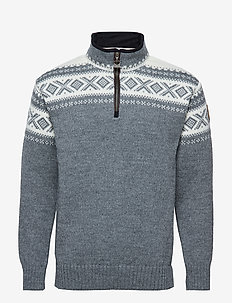 Cortina half zip sweater - SMOKE/OFF WHITE