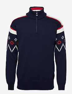 Seefeld masculine sweater - NAVY/OFF WHITE