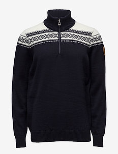 Cortina Merino Masc Sweater - half zip-tröjor - navy/off white