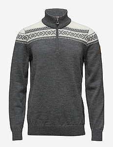 Cortina Merino Masc Sweater - SMOKE/OFF WHITE