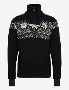 Fongen WP Masc Sweater - half zip - black/offwhite/smoke/charcoal