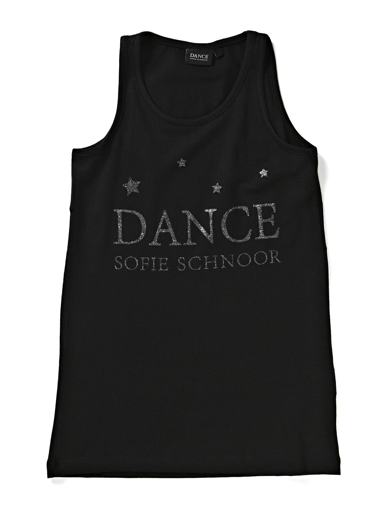 Petit by Sofie Schnoor Tank top w/dance print - BLACK