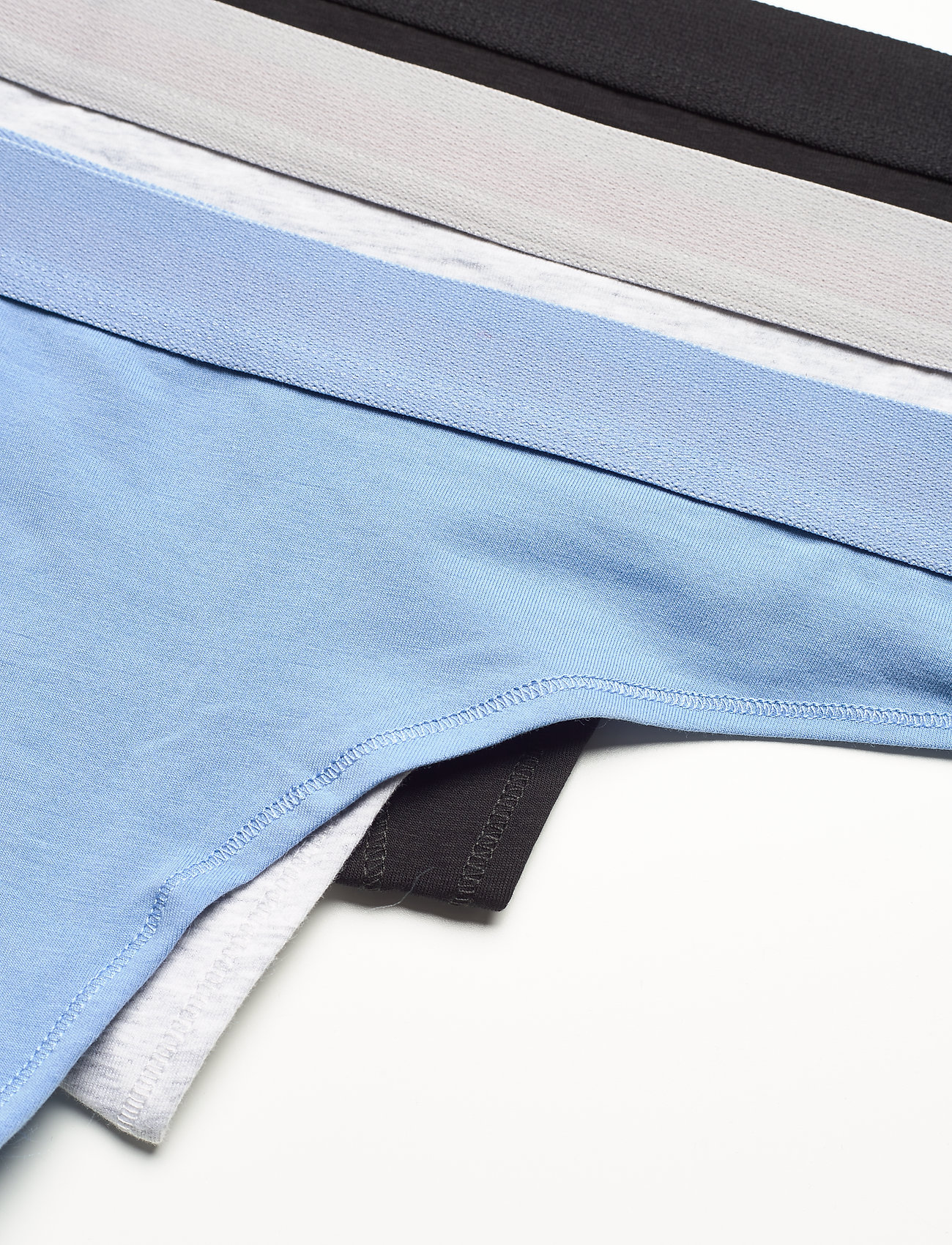 Danish Endurance - Organic Cotton Thong 3-pack - slips - multicolor (1x black, 1x grey mélange, 1x light blue) - 1