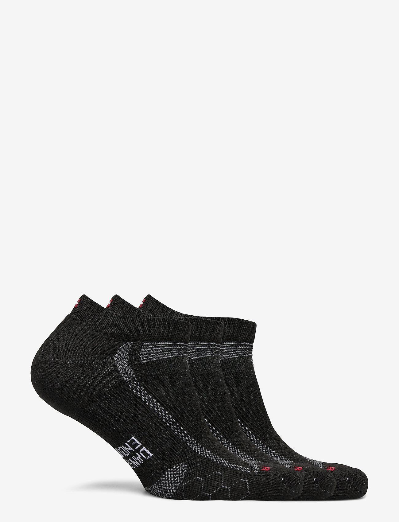 Danish Endurance - Low Cut Long Distance Running Socks 3 Pack - kousen - black/grey - 1