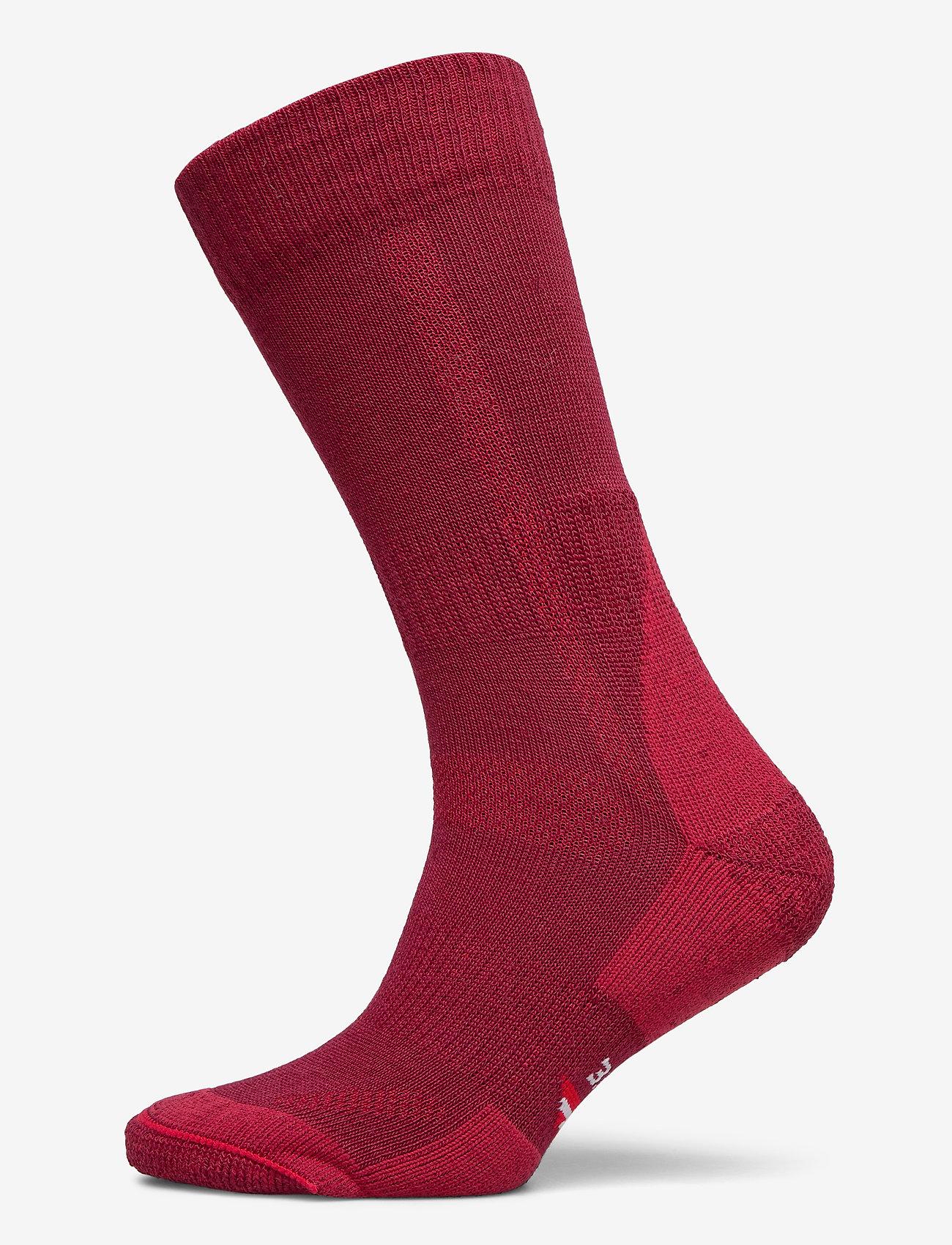 Danish Endurance - Classic Merino Wool Hiking Socks 1 Pack - kousen - wine red - 0