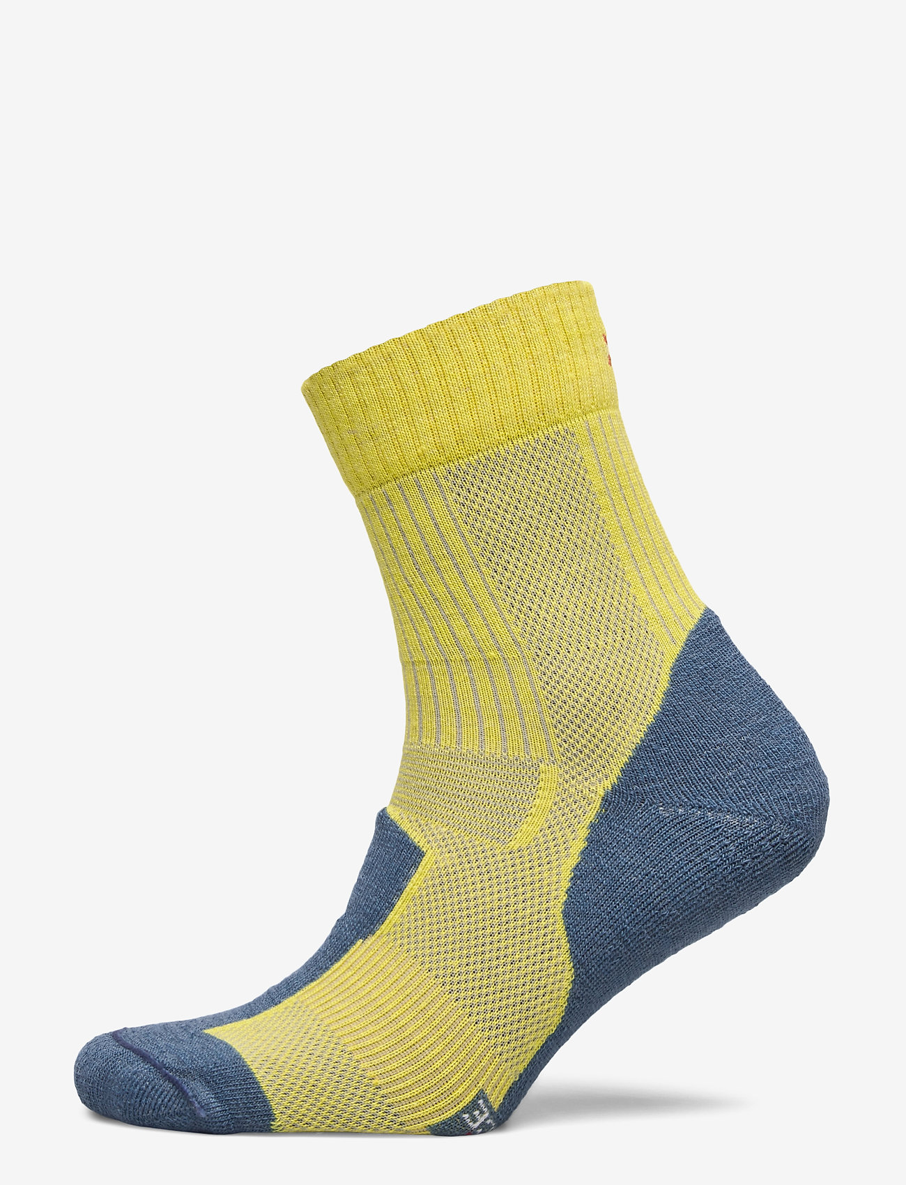 Danish Endurance - Merino Wool Light Hiking Socks 1 Pack - kousen - yellow/blue grey - 0