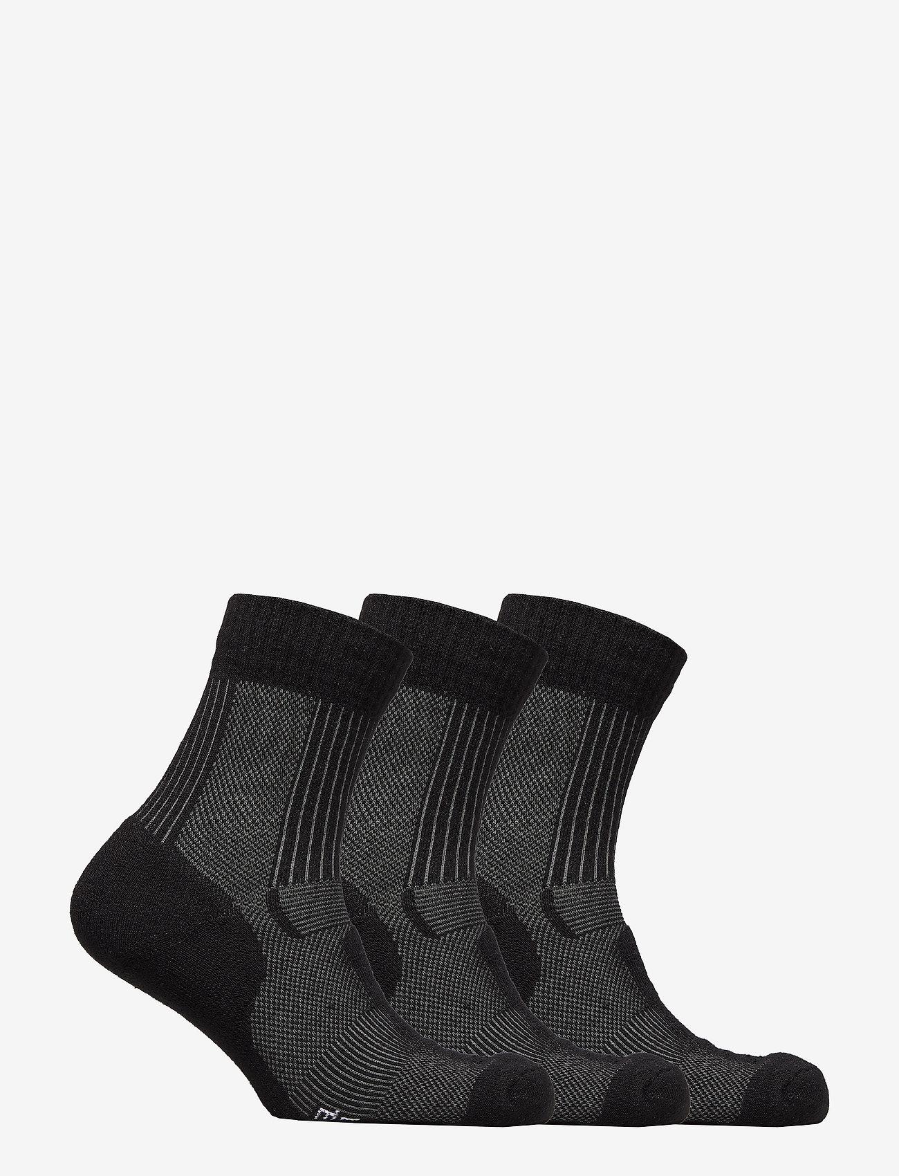 Danish Endurance - Merino Wool Light Hiking Socks 3 Pack - kousen - black - 1