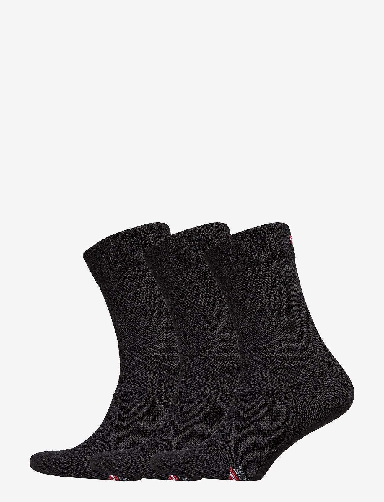 Danish Endurance - Merino Blend Dress Socks 3 Pack - kousen - black - 0