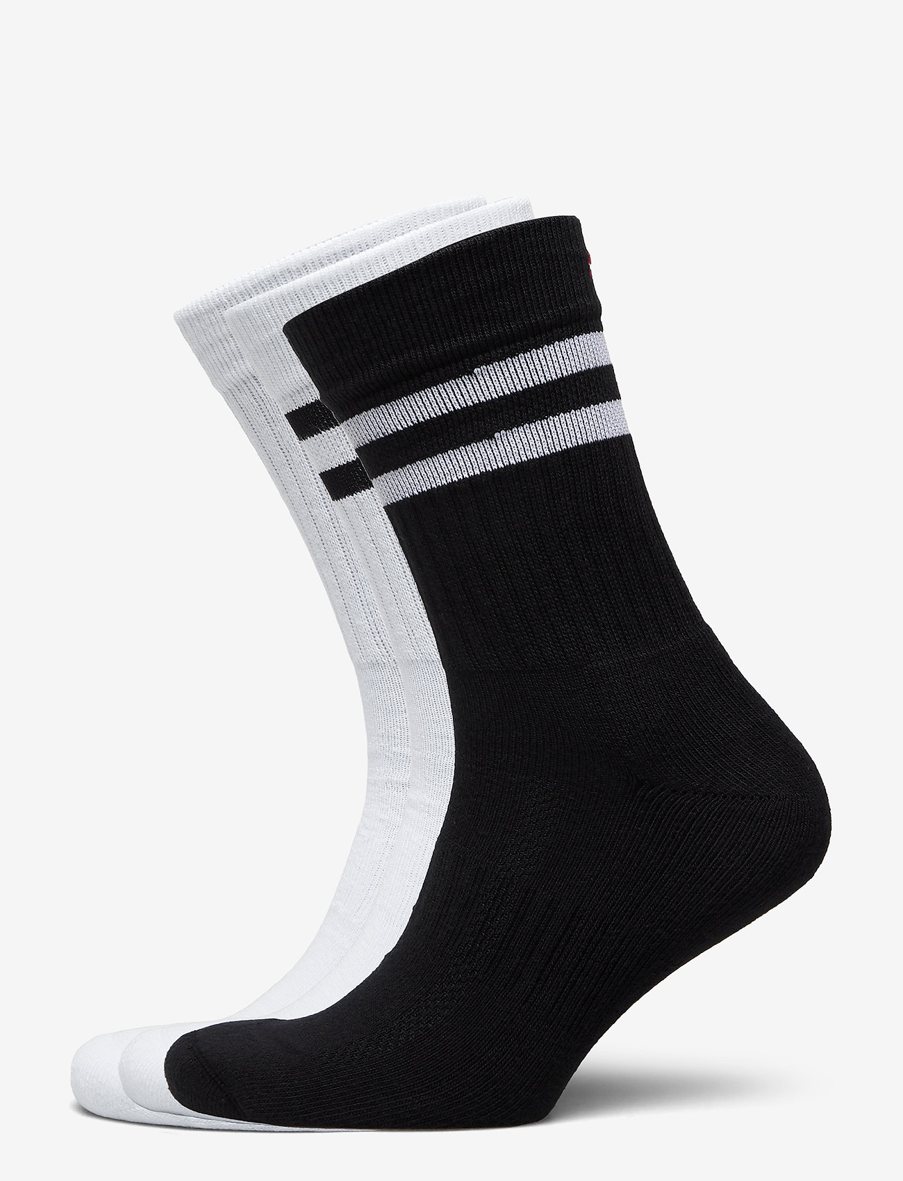 Danish Endurance - Tennis Performance Crew Socks 3 Pack - kousen - multicolour (1x black/white, 1x white, 1x white/black) - 0