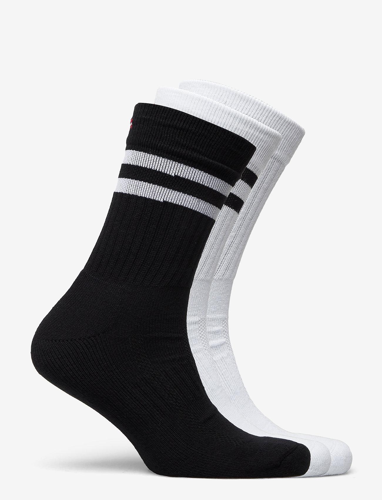 Danish Endurance - Tennis Performance Crew Socks 3 Pack - kousen - multicolour (1x black/white, 1x white, 1x white/black) - 1