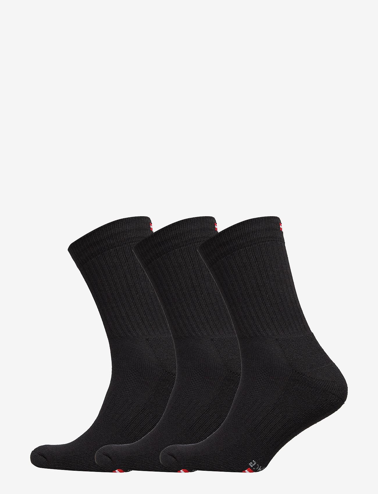 Danish Endurance - Tennis Performance Crew Socks 3 Pack - sokker - black - 0