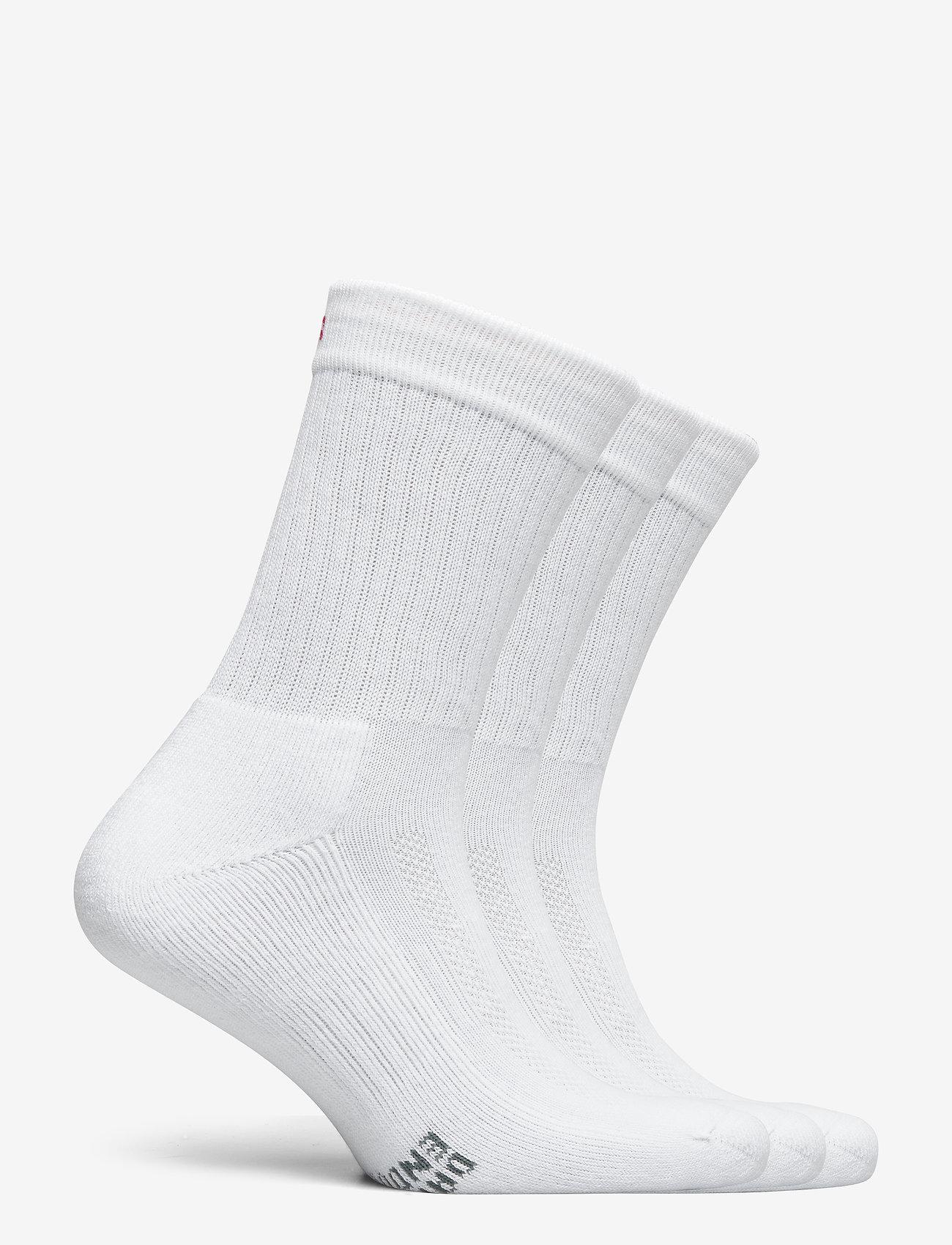 Danish Endurance - Tennis Performance Crew Socks 3 Pack - kousen - white - 1