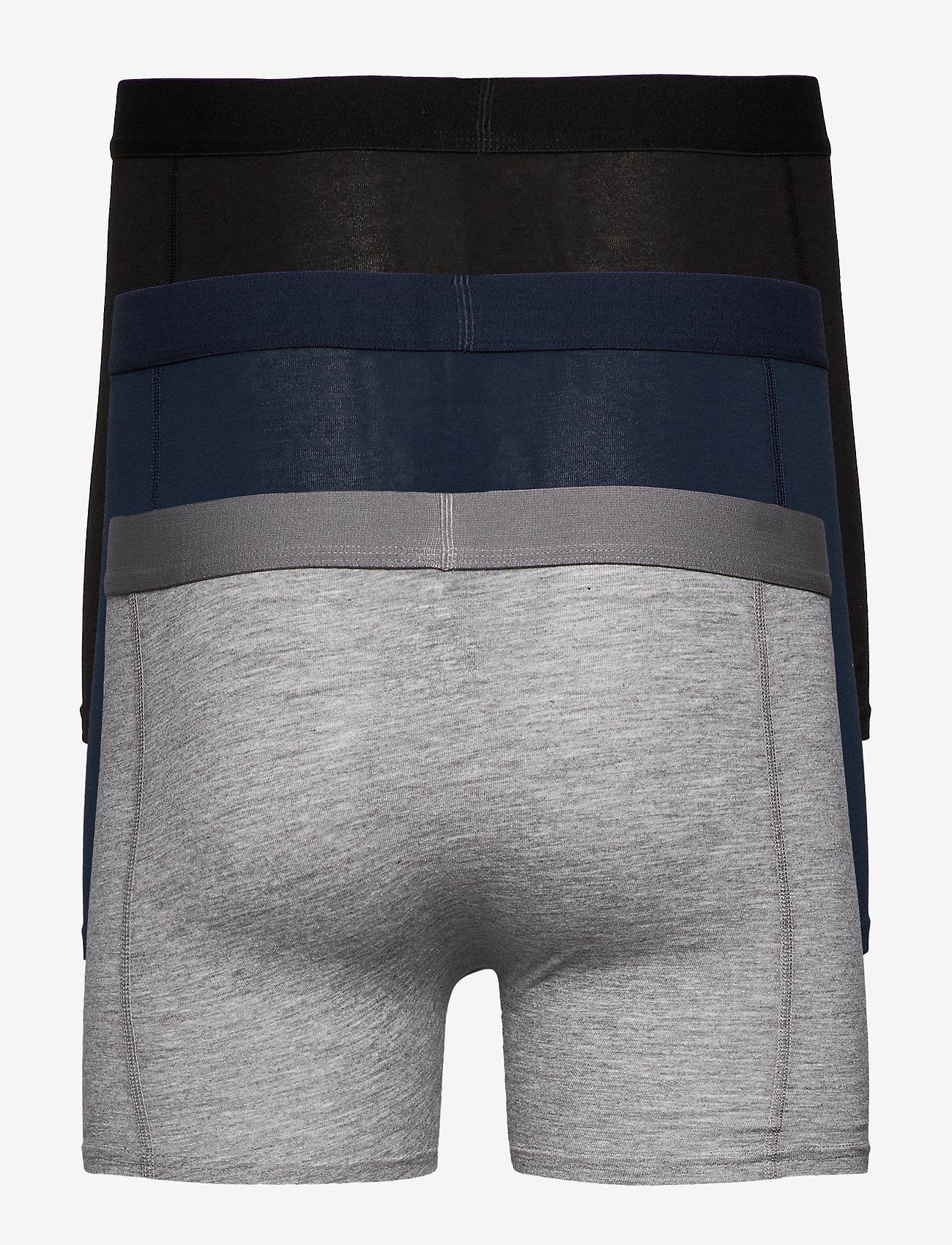 Danish Endurance - Classic Trunks 3 Pack - ondergoed - multicolour (black, navy blue, grey) - 1