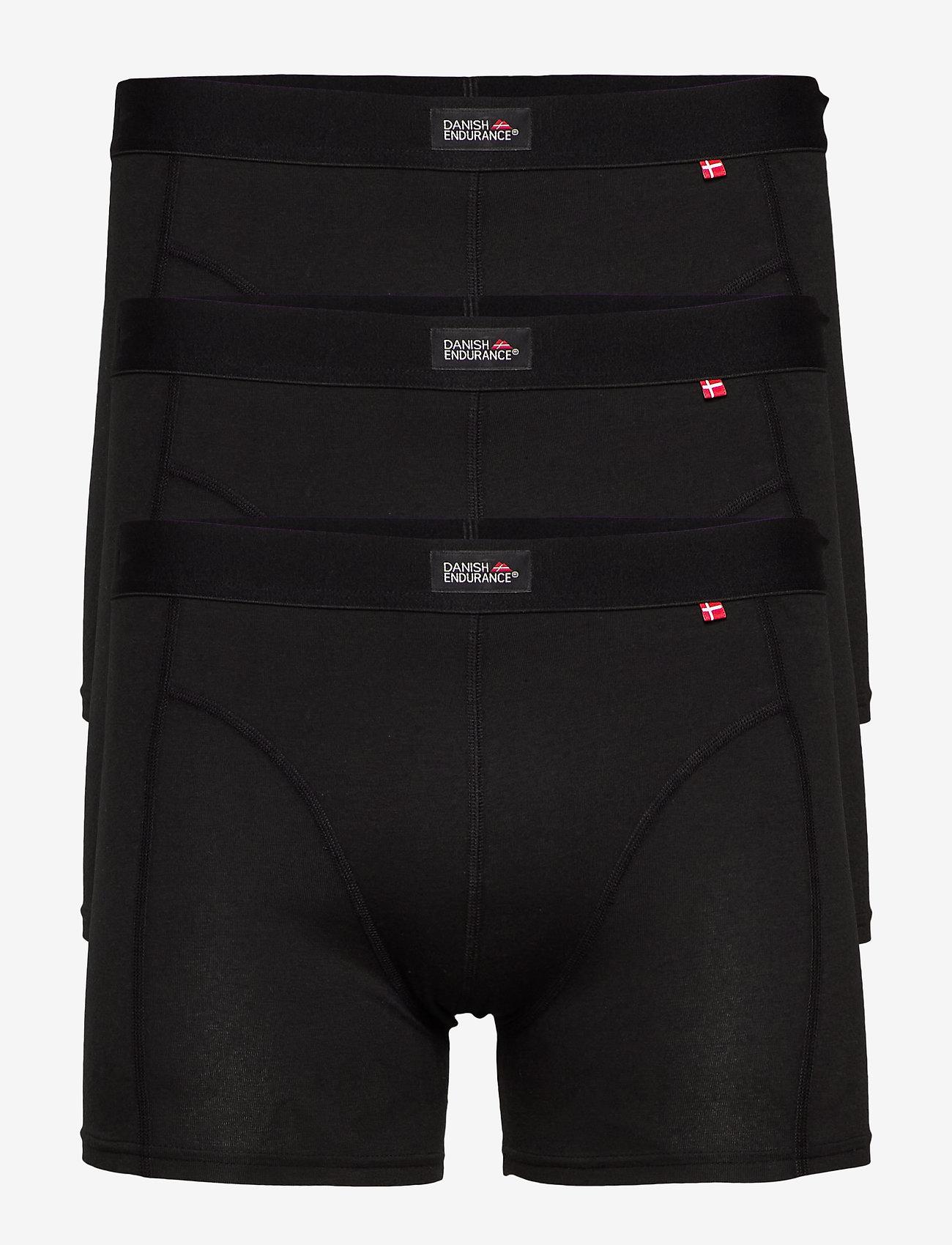 Danish Endurance - Classic Trunks 3 Pack - ondergoed - black - 0