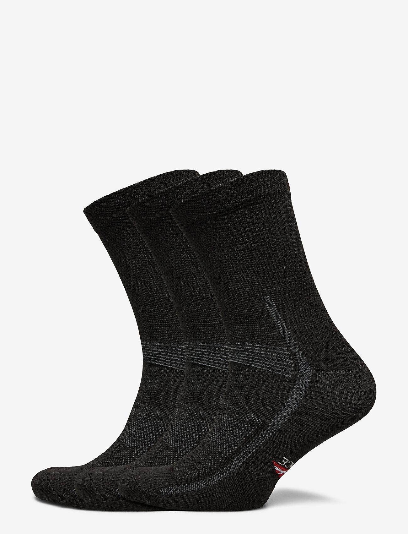 Danish Endurance - High Cycling Socks 3 Pack - kousen - black - 0