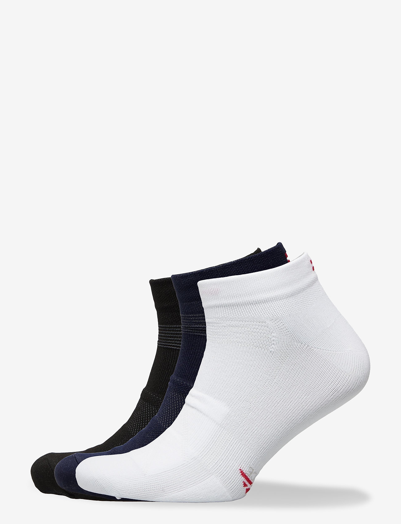 Danish Endurance - Low Cut Cycling Socks 3 Pack - kousen - multicolor (1x black, 1x blue, 1x white/stripes) - 0
