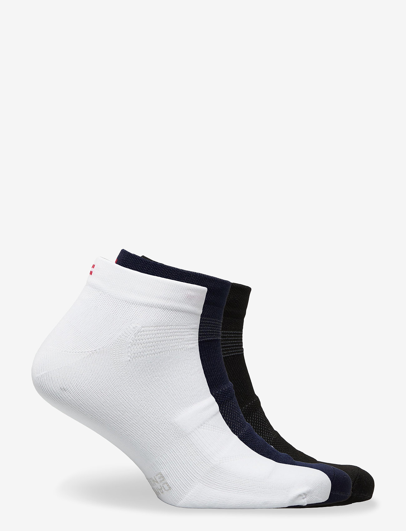 Danish Endurance - Low Cut Cycling Socks 3 Pack - kousen - multicolor (1x black, 1x blue, 1x white/stripes) - 1