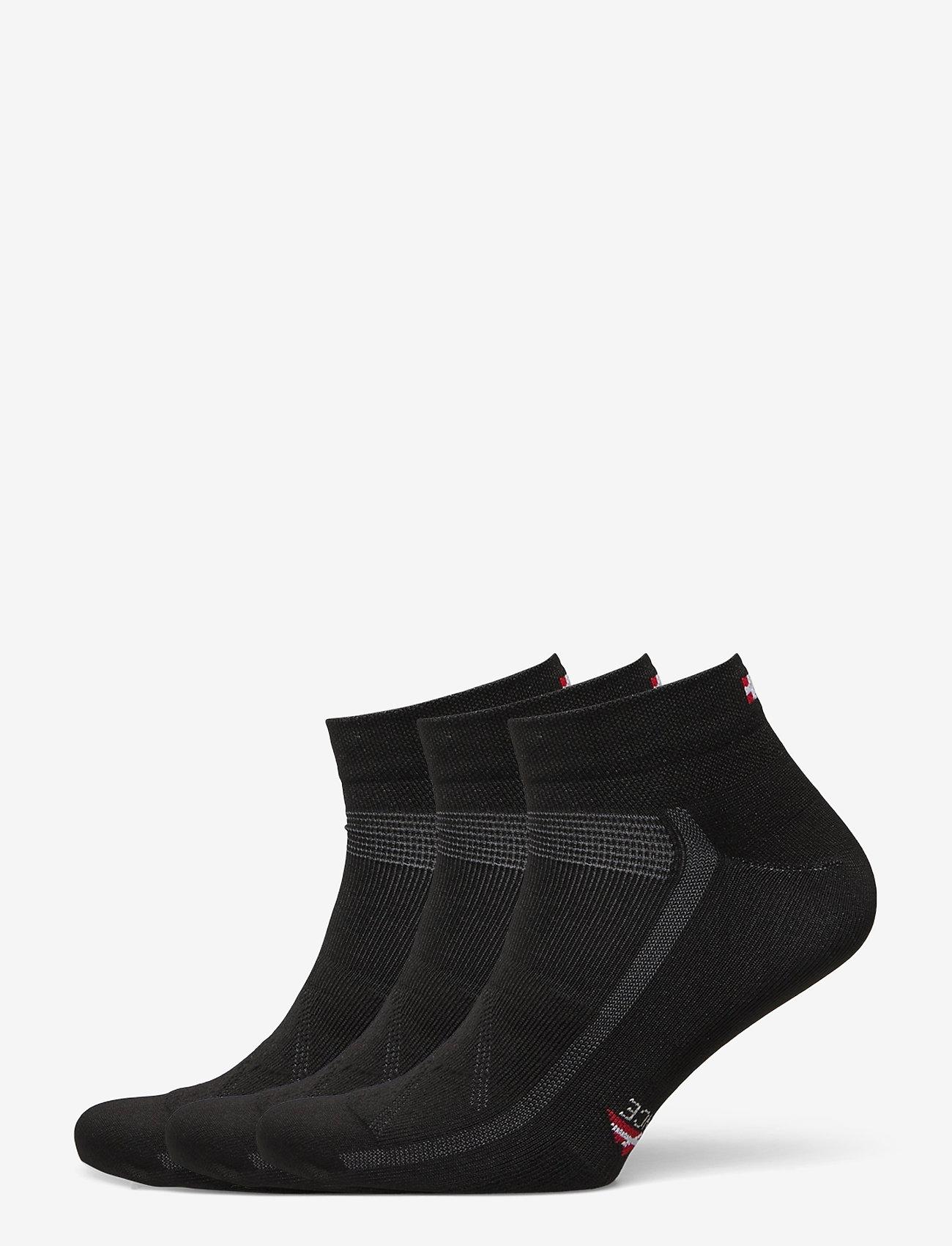 Danish Endurance - Low Cut Cycling Socks 3 Pack - kousen - black - 0