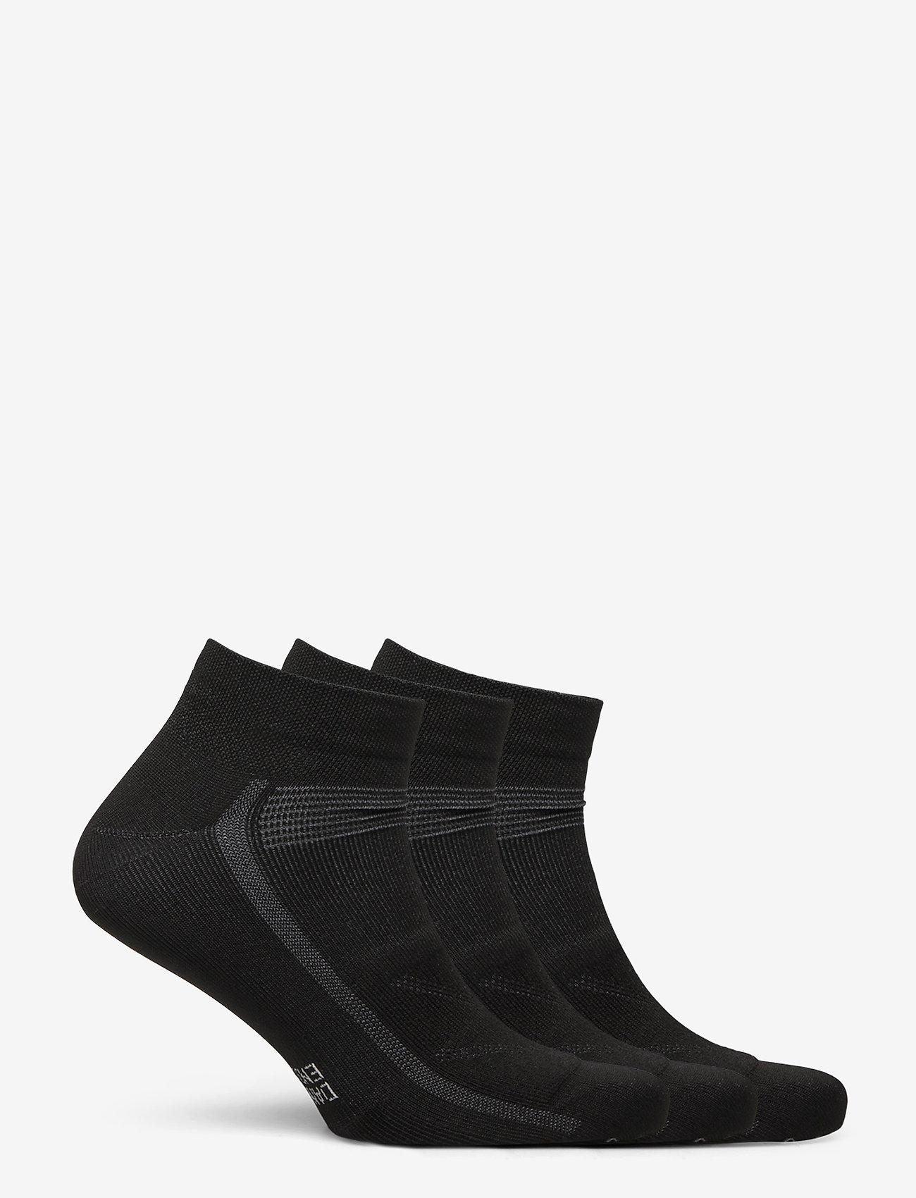 Danish Endurance - Low Cut Cycling Socks 3 Pack - kousen - black - 1