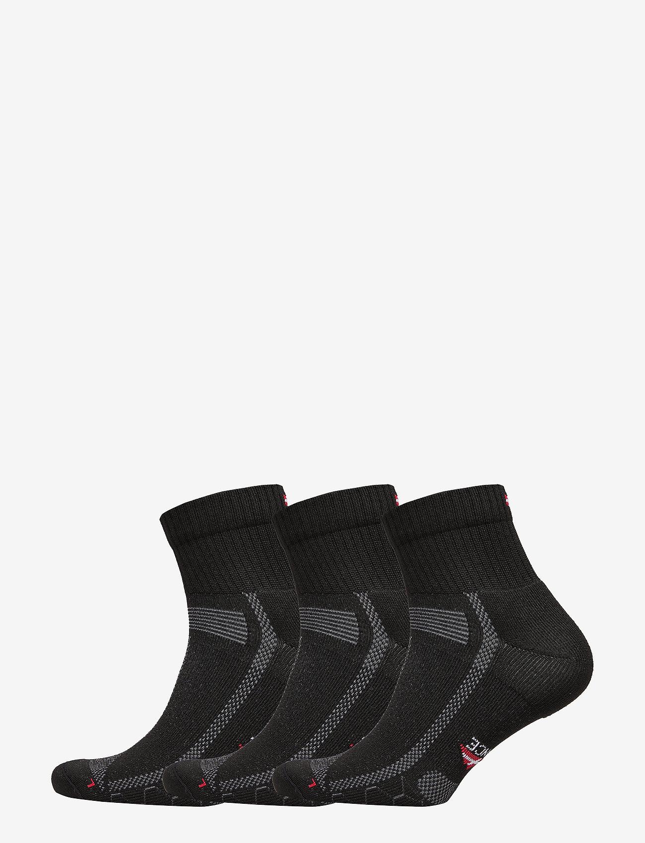 Danish Endurance - Long Distance Running Socks 3 Pack - kousen - black/grey - 0