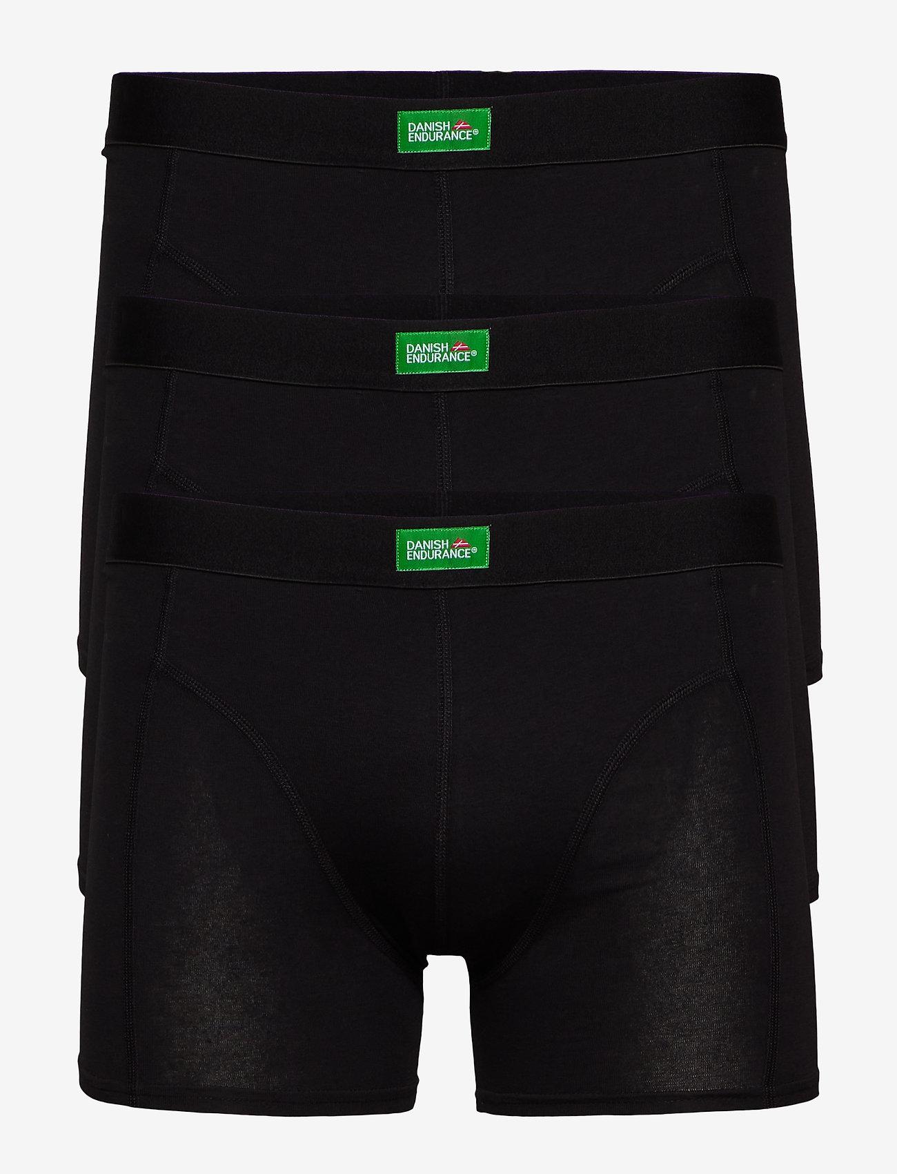 Danish Endurance - Organic Cotton Trunks 3 Pack - nieuwe mode - black - 0