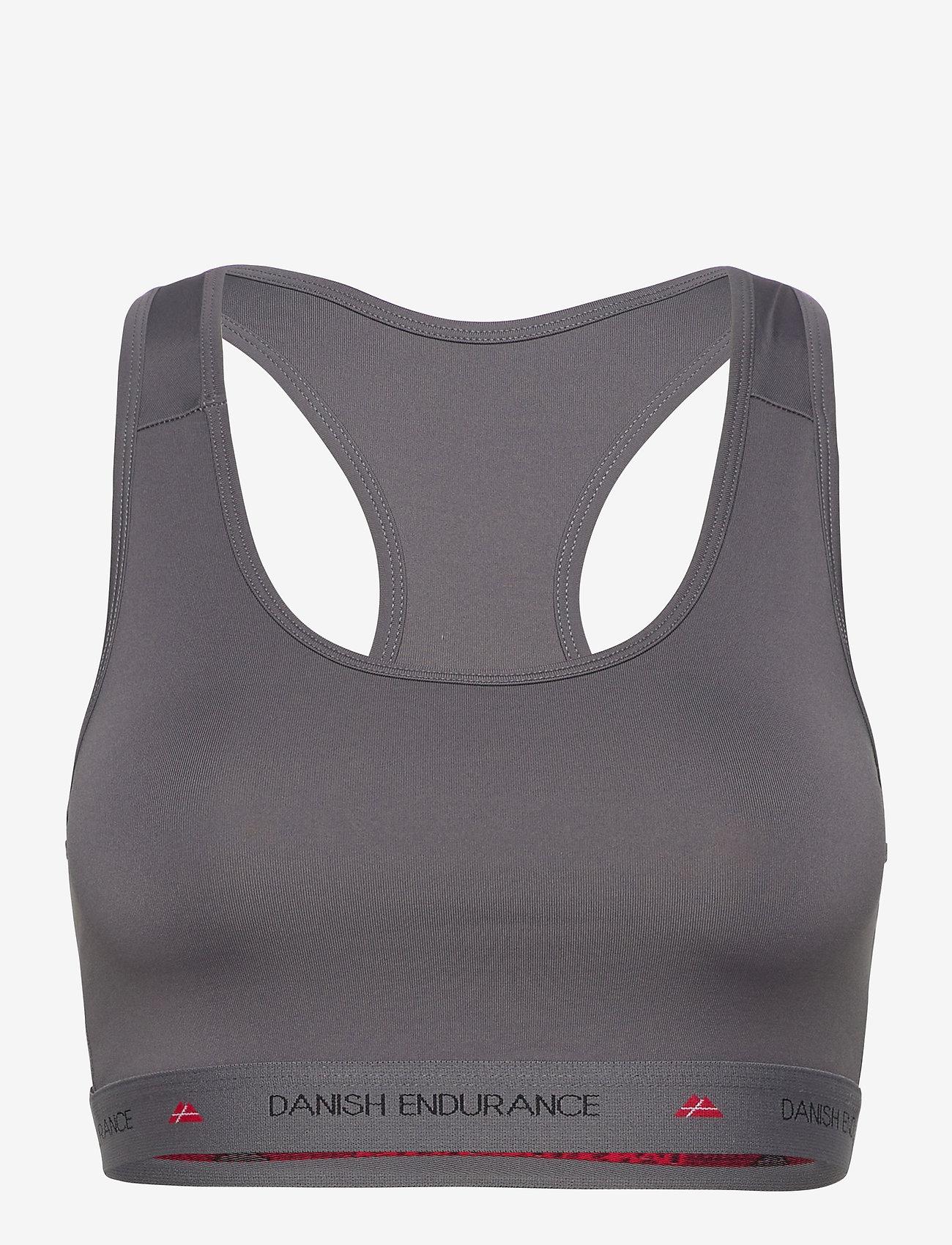 Danish Endurance - Microfiber Sports Bra 1 Pack - sport bras: low - grey - 0
