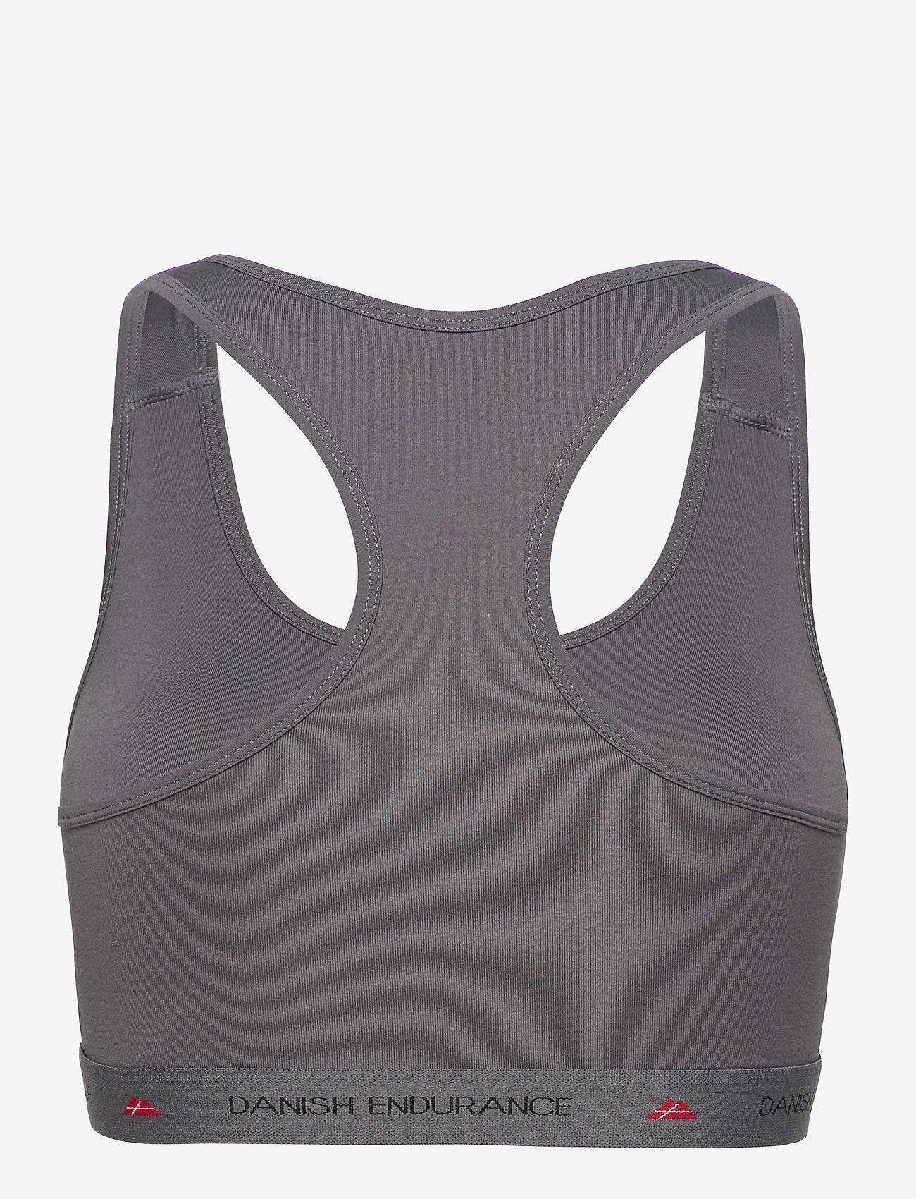 Danish Endurance - Microfiber Sports Bra 1 Pack - sport bras: low - grey - 1