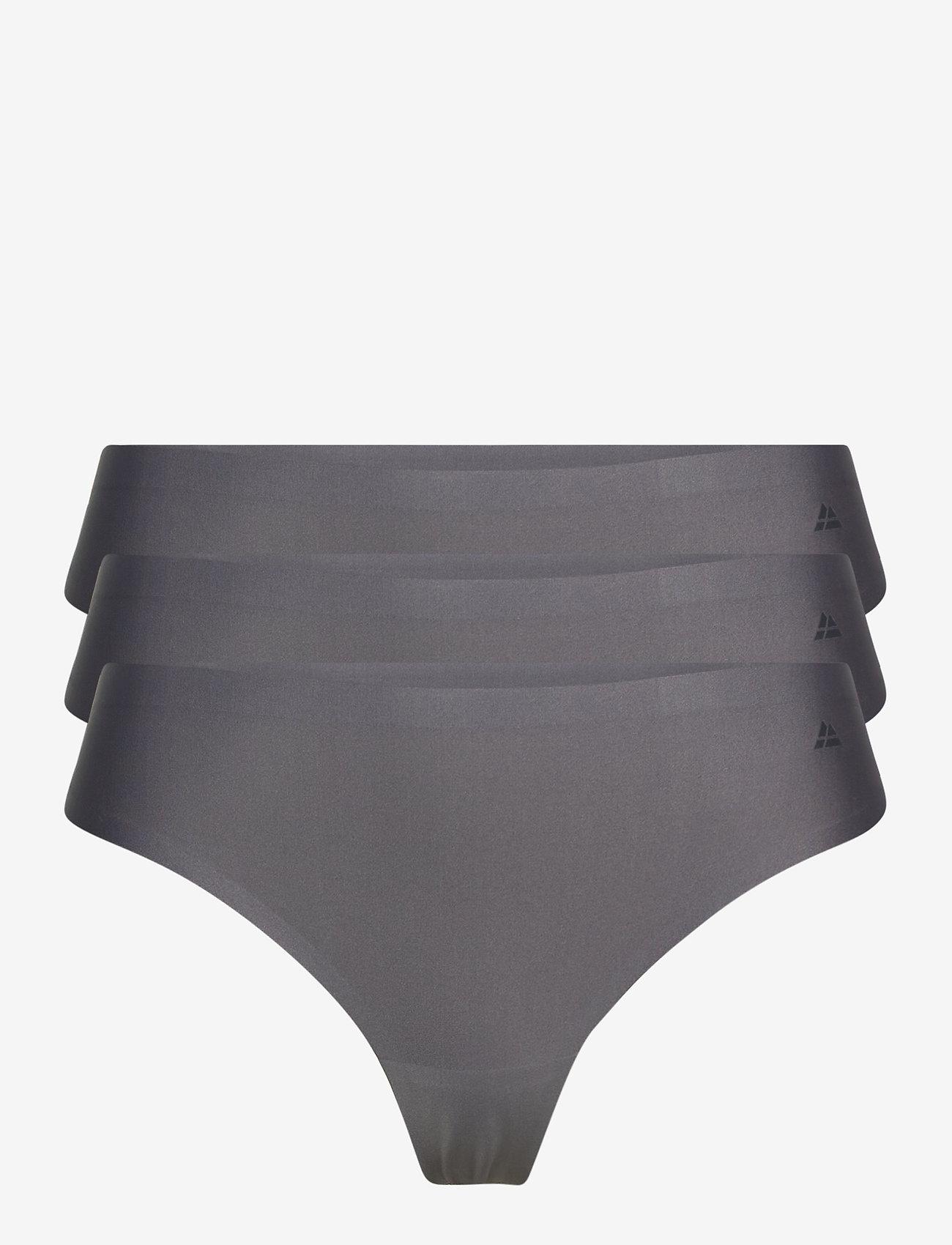 Danish Endurance - Microfiber Thong 3 Pack - slips - grey - 0