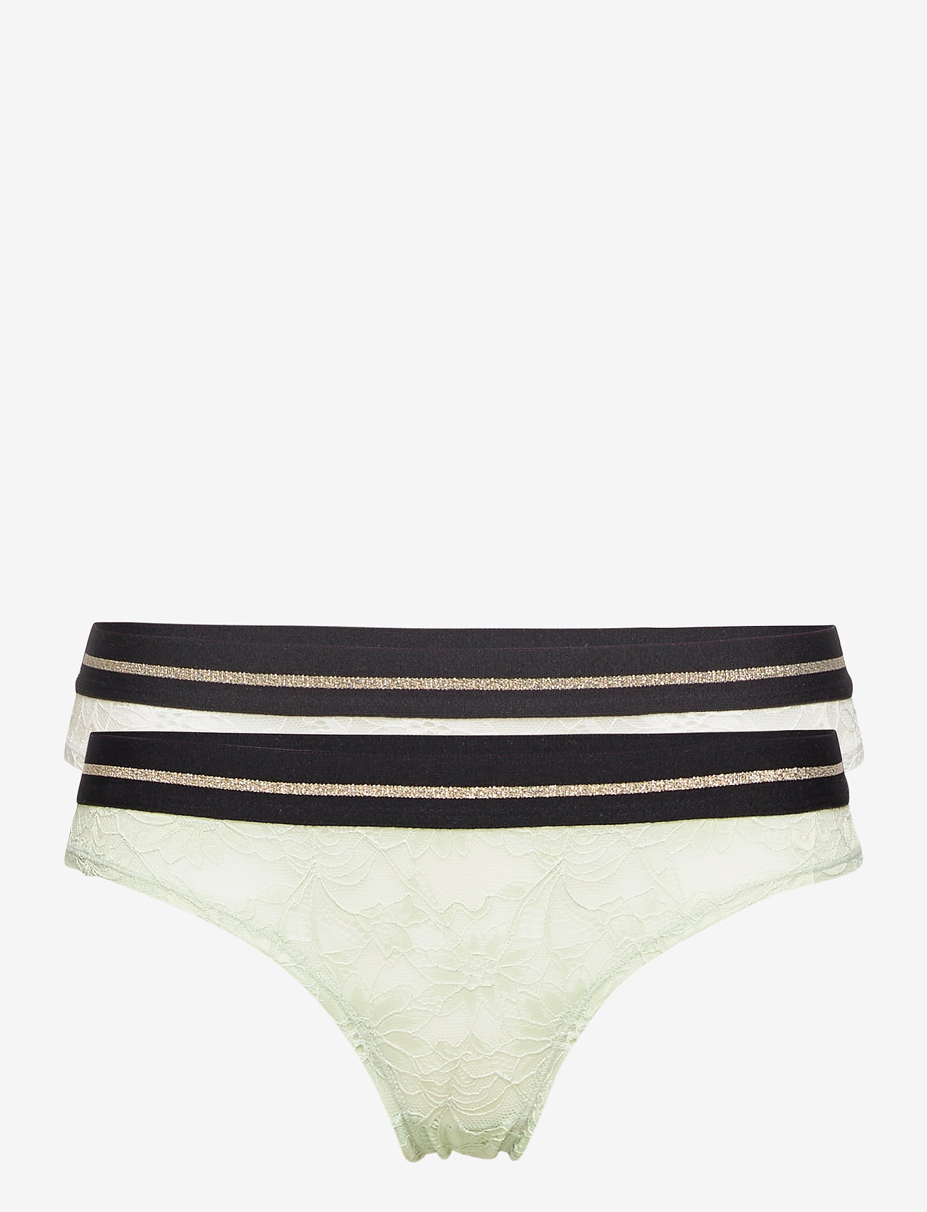 Danish Endurance - Blooming Lace Bikini Briefs by Pernille Blume 2 Pack - slips - multicolor (1 x white, 1 x sea foam green) - 0