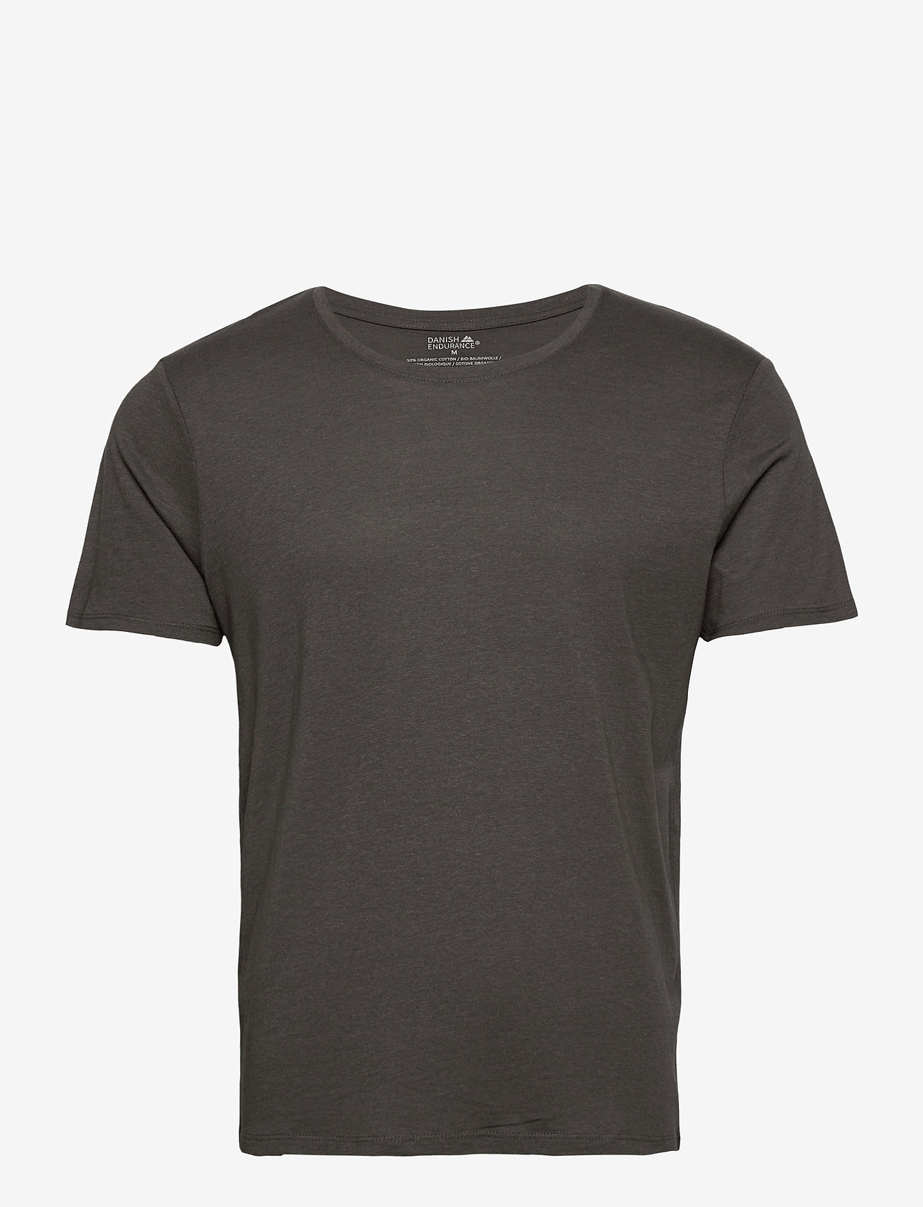 Danish Endurance - Men's Crew Neck Organic T-Shirt 1 Pack - sportoberteile - charcoal grey - 0