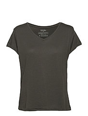Women's V Neck Organic T-Shirt 1 Pack - CHARCOAL GREY