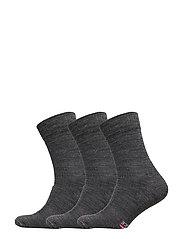 Merino Wool Light Hiking Socks 3 Pack - GREY