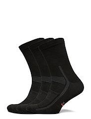 High Cycling Socks 3 Pack - BLACK