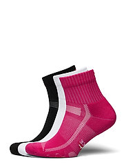 Long Distance Running Socks 3 Pack - MULTICOLOUR (1X BLACK, 1X PINK, 1X WHITE)