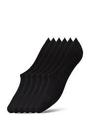 No Show Socks 6 Pack - BLACK