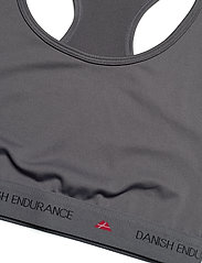 Danish Endurance - Microfiber Sports Bra 1 Pack - sport bras: low - grey - 2