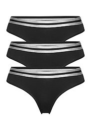Organic Cotton Thong by Pernille Blume 3 Pack - BLACK