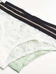 Danish Endurance - Blooming Lace Bikini Briefs by Pernille Blume 2 Pack - slips - multicolor (1 x white, 1 x sea foam green) - 1