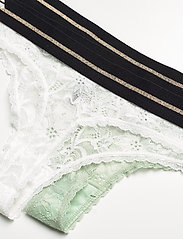 Danish Endurance - Blooming Lace Thong by Pernille Blume 2 Pack - slips - multicolor (1 x white, 1 x sea foam green) - 1