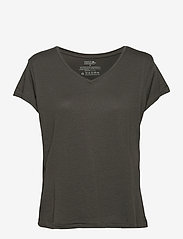 Danish Endurance - Women's V Neck Organic T-Shirt 1 Pack - t-shirts - charcoal grey - 0