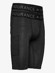 Danish Endurance - Mens Running Compression Tights 2 Pack - sportleggings - multicolor (1x black, 1x black/grey) - 1