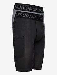 Danish Endurance - Mens Running Compression Tights 2 Pack - sportleggings - multicolor (1x black, 1x grey) - 1