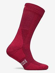 Danish Endurance - Classic Merino Wool Hiking Socks 1 Pack - kousen - wine red - 1