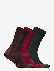 Danish Endurance - Classic Merino Wool Hiking Socks 3 Pack - kousen - multicolor (green, brown, red) - 1