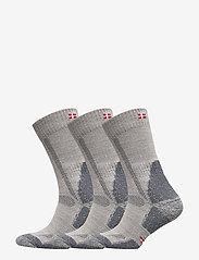 Danish Endurance - Classic Merino Wool Hiking Socks 3 Pack - kousen - light grey - 0